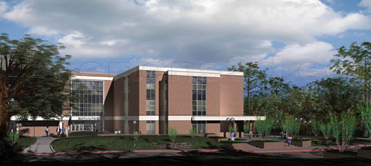 3d Architectural Rendering of: Sam Houston State University - Smith-Hutson Addition(medium)  Pick for a higher resolution 3d rendering