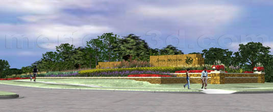 3d Animation of: Seven Meadows - Secondary Entry Monument(medium)  Pick for a higher resolution 3d rendering