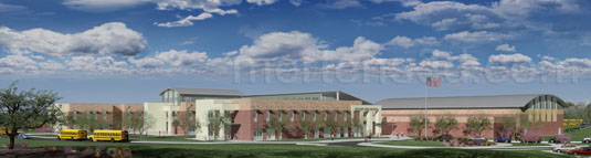 3d Architectural Visualization of: Taylor High School(medium)  Pick for a higher resolution 3d rendering