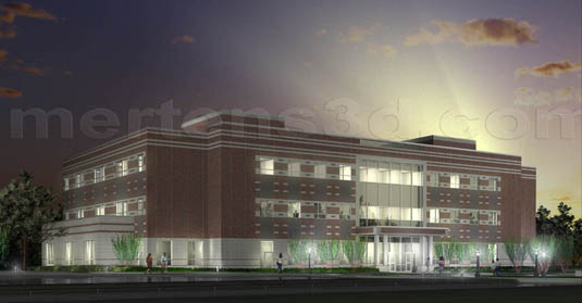 3d Architectural Illustration of: Prairie View A&M - Night View(medium)  Pick for a higher resolution 3d rendering