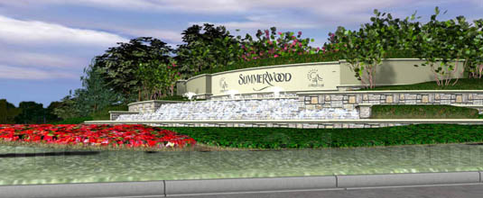 3d Architectural Illustration of: Summerwood Development - Entry Design C(medium)  Pick for a higher resolution 3d rendering