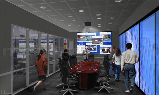 Interior Illustration of: Dell Enterprise Command Centers - Conference Room(medium)  Pick for a higher resolution 3d rendering