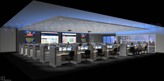 3d Interior of: Dell Enterprise Command Centers - (ECC)(medium)  Pick for a higher resolution 3d rendering