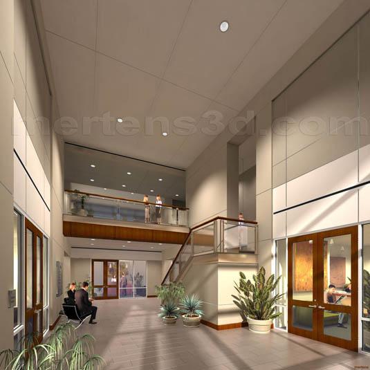 Lobby Interior Design: 3d Interior Illustration Of: Ladera Bend