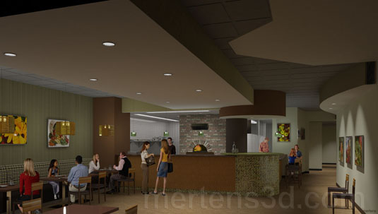3d Interior Rendering of: Oak Park Restaurant - View B(medium)  Pick for a higher resolution 3d rendering