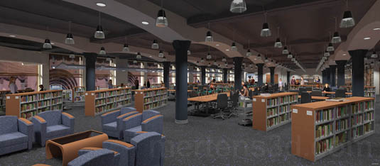 3d Interior Rendering of: RMC Library - Arches(medium)  Pick for a higher resolution 3d rendering