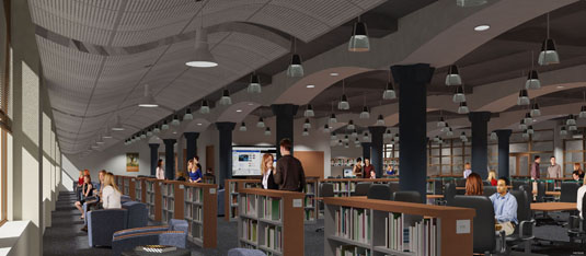 Interior Illustration of: RMC Library - S Curves(medium)  Pick for a higher resolution 3d rendering