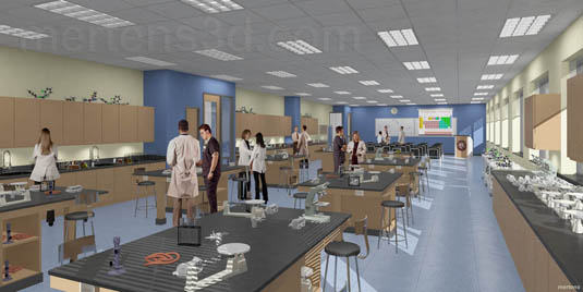 Interior Rendering of: Dupage Science Lab(medium)  Pick for a higher resolution 3d rendering