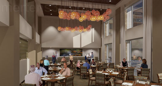 Interior Rendering of: Wind Crest  - Dining(medium)  Pick for a higher resolution 3d rendering