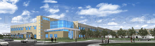 3d Architectural Rendering of: Dell - WS1 - Winston-Salem(medium)  Pick for a higher resolution 3d rendering