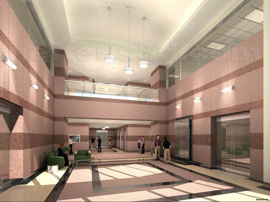 3d Interior Rendering of: Prominent Pointe II - Lobby(medium)  Pick for a higher resolution 3d rendering