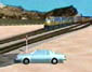 3d Forensic Animation of: Accident Reconstruction - Train vs. Vehicle - Oblique View (thumbnail)